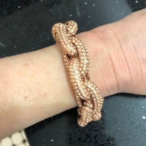 Jewelry - Rose Gold Crystal Link Bracelet.